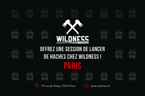WILDNESS, lancer de hache Paris